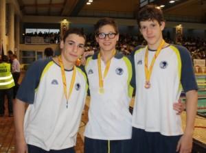 Triplete del Sabadell en 400 estilos año 97: Casanovas, Pedrosa y Vivas en el nacional infantil de mallorca