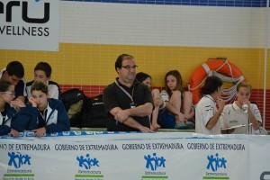 Albert Tubella, durante el campeonato de España escolar (deporteextremadura)